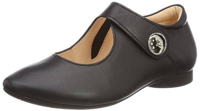 Womens Guad_888280 Ankle Strap Ballet Flats, Black (Schwarz 00) Think