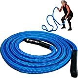 Hyperwear Hyper Rope Battle Rope, Patent Pending Flexible Metal Core Cardio Strength Rope, Full Home Gym Workout in only…