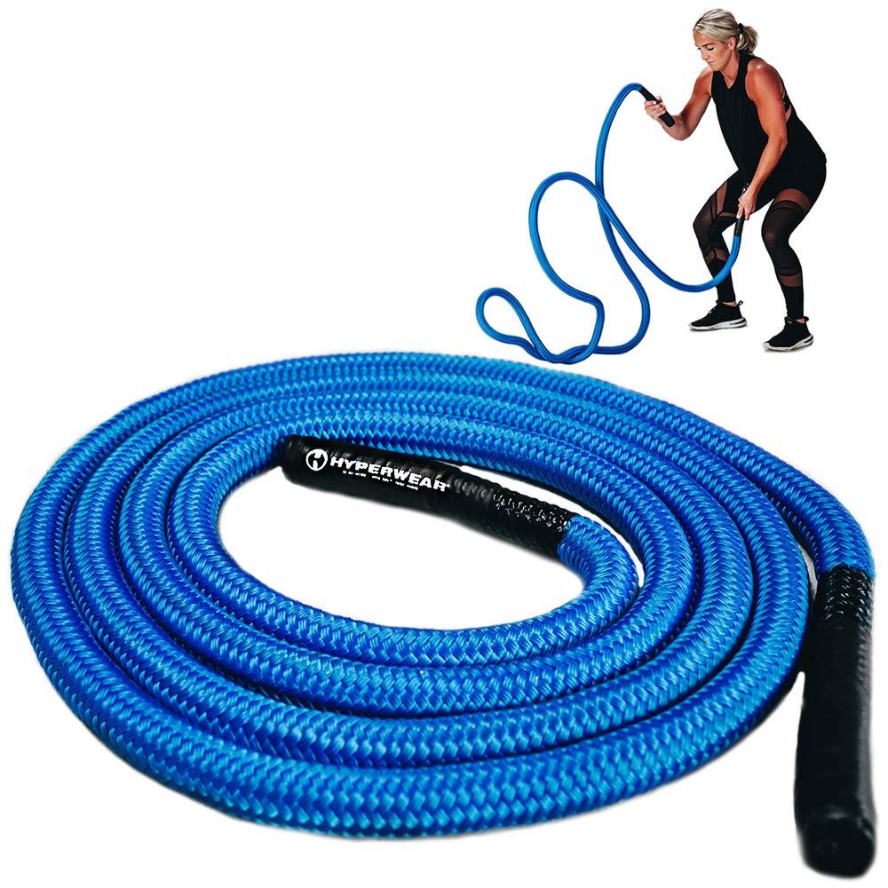 Hyperwear Hyper Rope Fluid Metal Core Short Unanchored Take Anywhere Premium Exercise Rope