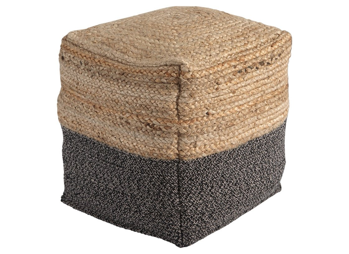 Ashley Furniture Signature Design - Sweed Valley Pouf - Comfortable Pouf & Ottoman - Casual - Natural/Black by Signature Design by Ashley