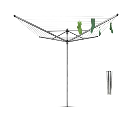 Clothesline Anchorage Stunning Amazon Brabantia LiftOMatic Rotary Dryer Clothes Line 60