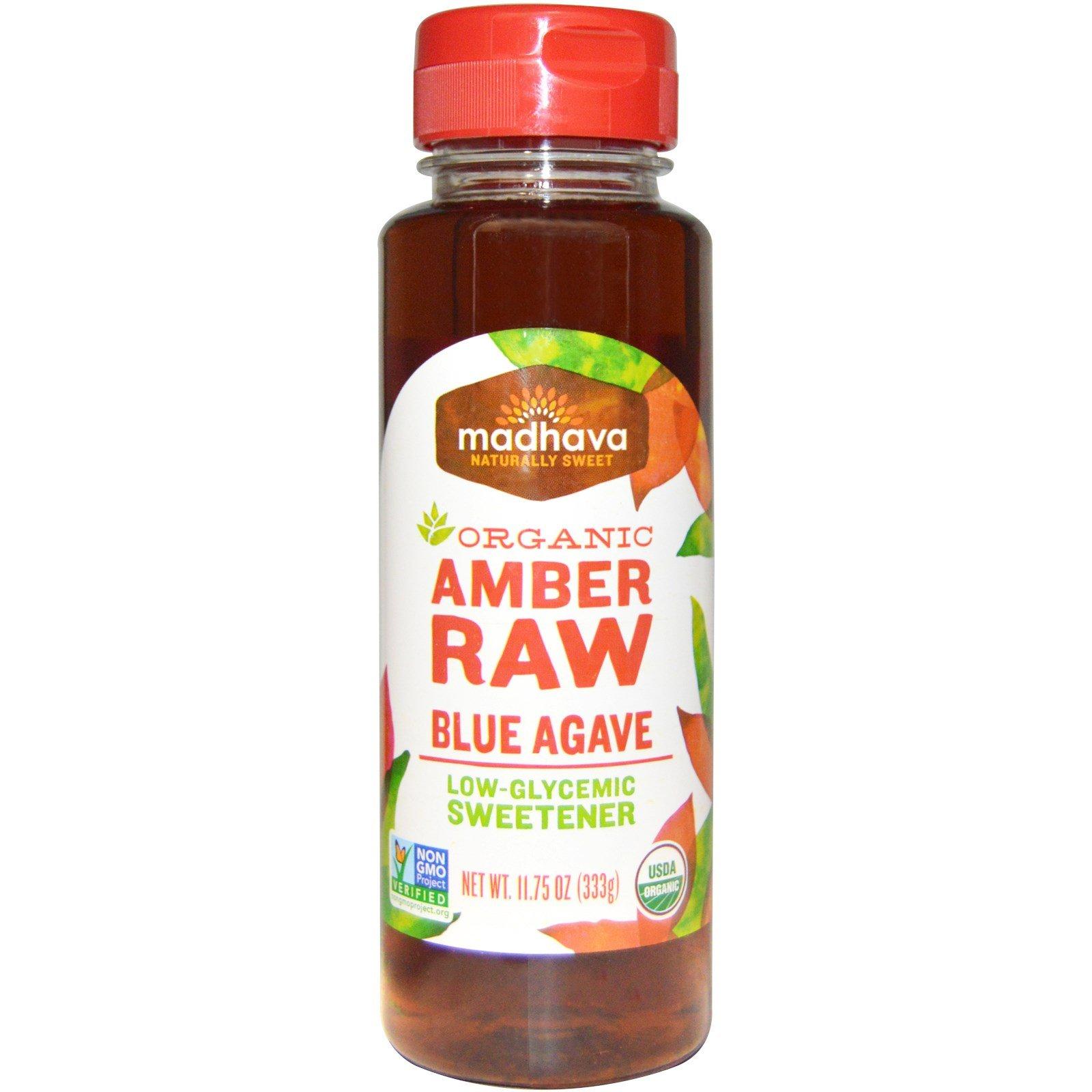 Madhava Natural Sweeteners, Organic Amber Agave Nectar, 11.75 oz (333 g) - 2pcs