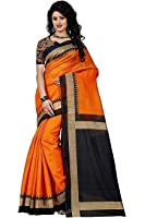 Sarees(Women's Clothing Saree For Women Latest Design Collection Fancy Material Latest Cotton Silk Sarees With Designer Beautiful Bollywood Sarees For Women Party Wear Offer Designer Sarees With Blouse Piece New Collection saree(22MAYURIORANGE)