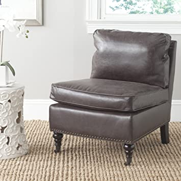 High Quality Safavieh Mercer Collection Randy Slipper Chair, Antique Brown