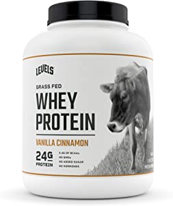 Levels Grass Fed 100% Whey Protein, No GMOs, Vanilla Cinnamon, 5LB