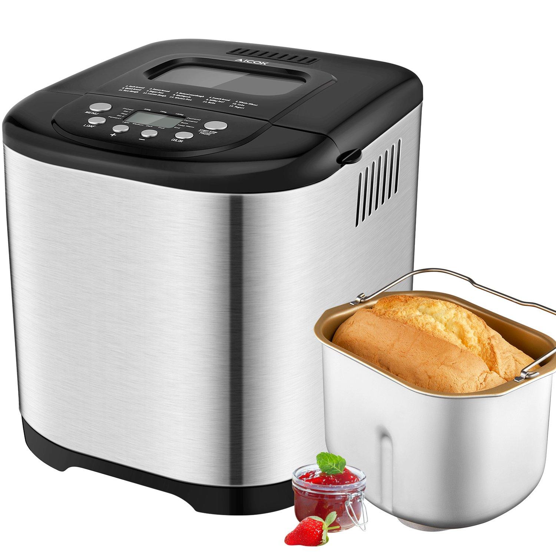 Aicok Panificadora Máquina programable para hacer pan Completamente Automática g Máquina de