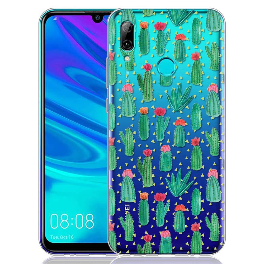 ZhuoFan Cover Huawei P Smart 2019, Custodia Cover Silicone Trasparente con Disegni Ultra Slim TPU Morbido Antiurto 3D Cartoon Bumper Case Protettiva per Huawei P Smart 2019 (Occhio)