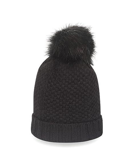 922f5f19d1ceeb CASH-MERE.CH 100% Cashmere Winter Hat | Beanie with Detachable Faux ...