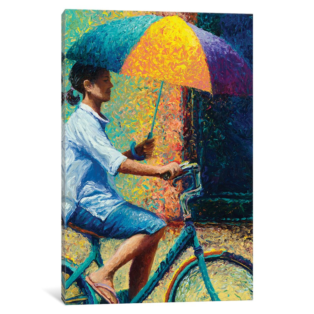 iCanvasART IRS117 My Thai Sunbrella Gallery Wrapped Canvas Art Print By Iris Scott, 60'' x 1.5'' x 40'' by iCanvasART