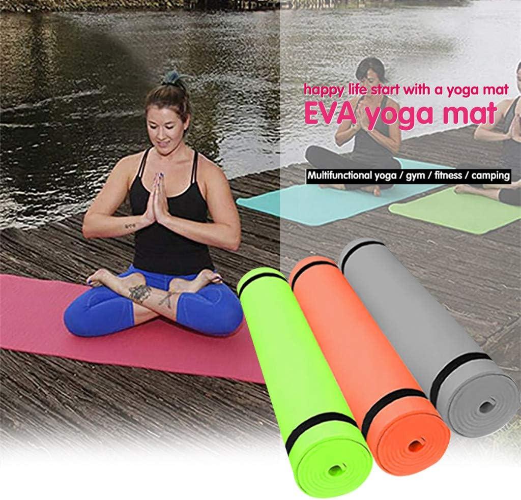 YunZyun 4MM EVA Yoga Mat Sport Fitness Yoga Equipment Thick Non-Slip Durable Yoga Mat Exercise Fitness Pad Mat Rubber Training Mat Orange