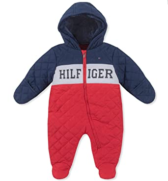 da00791d9 Image Unavailable. Image not available for. Color: Tommy Hilfiger Baby Boys  Pram, Navy/Red, 0-3 Months