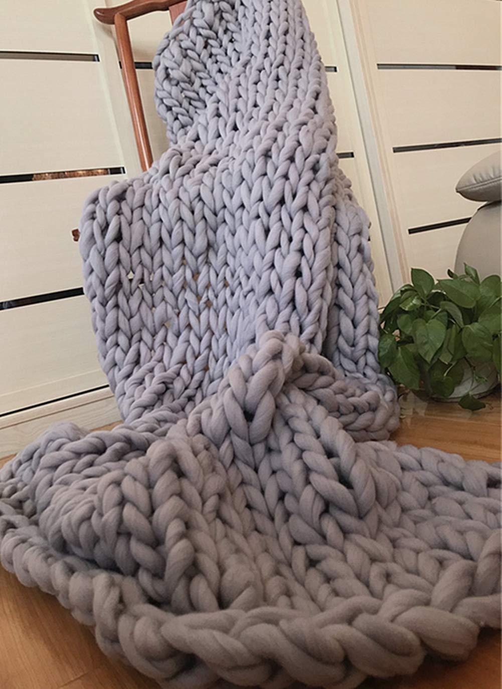 Knitted Blanket Große Stricken Dicke Decken Weiche Und Warme Winter Bett Sofa Teppiche Handgestrickte Dick-Linie Decken,1,150  180Cm
