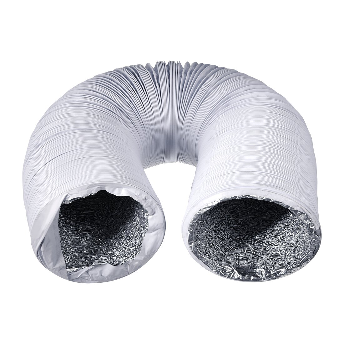 uxcell 6 Inch Aluminum Foil Duct Hose Grow Tent Room Ventilation System 26Ft Flexible Air Intake Helix Pipe HAVC