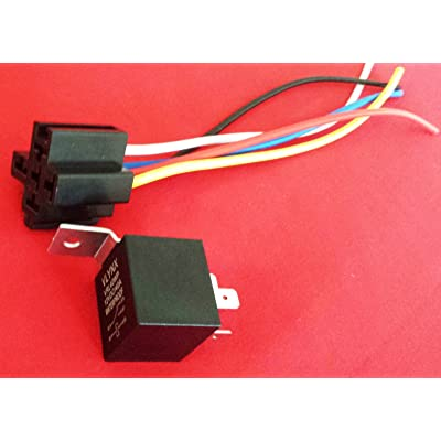 QTY1 Relay +(1) 5 PIN Socket 12V DC 40A Weatherproof & Waterproof SPDT CAR AUTO Truck AUTO Bosch Style VLYNX Relay and Socket Waterproof: Car Electronics