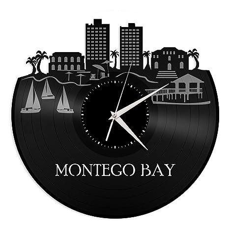 Amazon.com: vinylshopus – Montego Bay Jamaica vinilo reloj ...