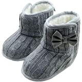 SHOBDW Girls Shoes, Baby Cute Bowknot Soft Sole Autumn Winter Warm Knitting Boots
