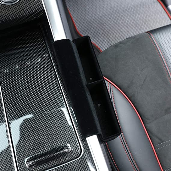 Co-Pilot YIWANG Suede Car Center Storage Box Seat Phone Key Card Tray for Land Rover Range Rover Sport 2014-2020 Accessories