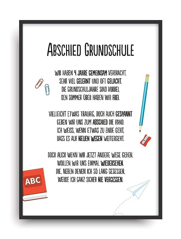 Geschenk Karte Abschied Grundschule Kunstdruck Schule Lehrer Schuler Bild Ohne Rahmen Din A4 Amazon De Handmade