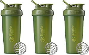 BlenderBottle Classic Loop Top Shaker Bottle 3-Pack, 28 oz (Moss Green)