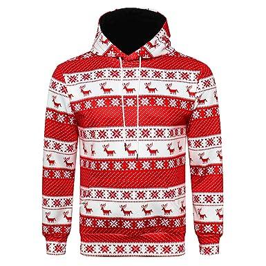 JYJM 2018 Weihnachten Herren Herren Winter Langarm Langarm Kapuzenmantel  Pullover Outwear Tops Bluse Mantel Jacke Steppjacke 720e74559a