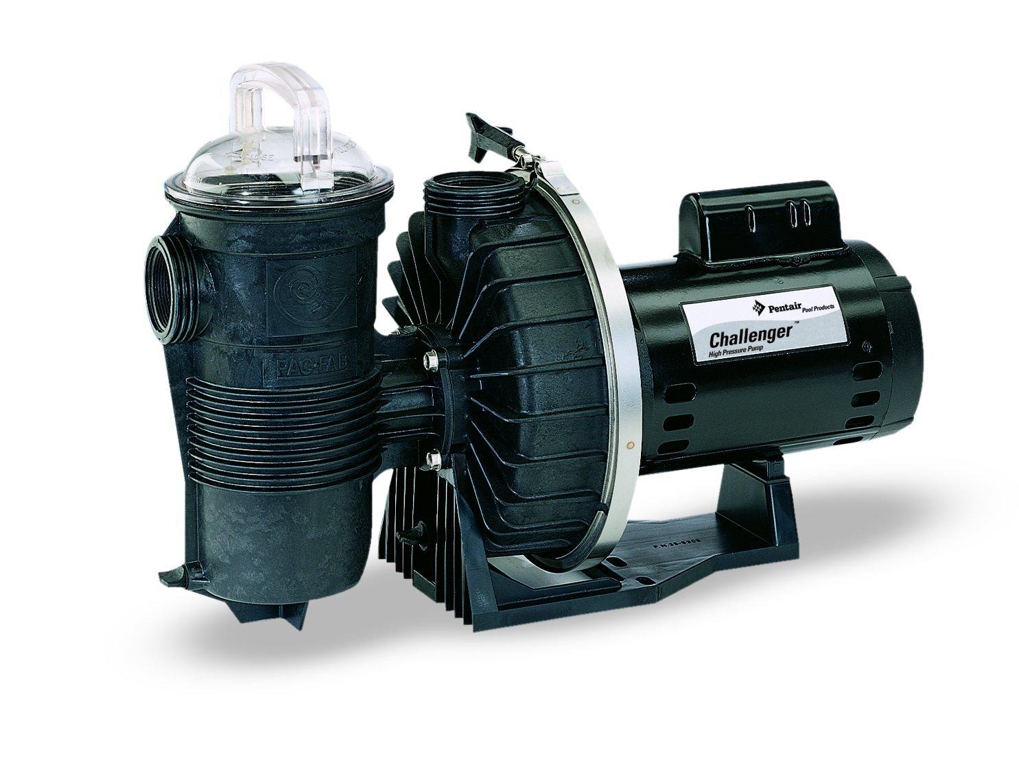 Pentair 346201 Challenger High Pressure Pump Single Speed 2-Horsepower Up  Rated Black