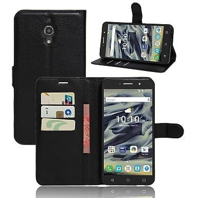 cheap for discount 1d62e ee823 Alcatel Pixi Phone Case PU Leather Flip Wallet Case Cover Pouch Wallet Flip  Cover Premium Leather Black Wallet Premium Pu Leather Case (Alcatel Pixi 4  ...