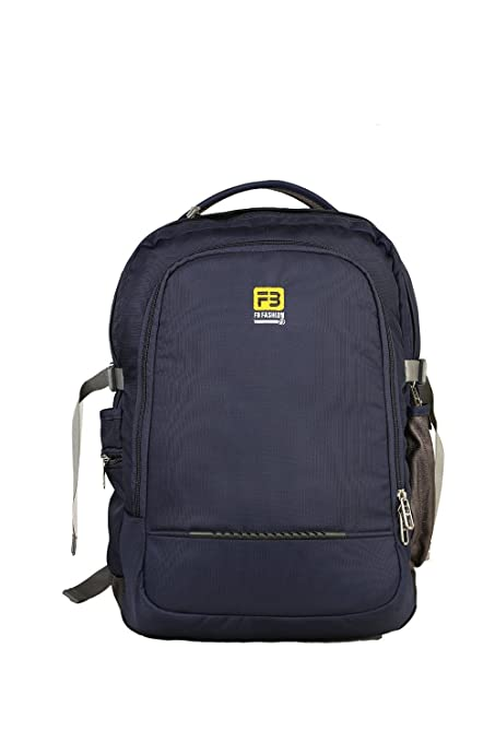d0d6a3ad581e5e FB Fashion Bag Polyester Blue Laptop Backpack - Buy FB Fashion Bag  Polyester Blue Laptop Backpack Online at Low Price in India - Amazon.in