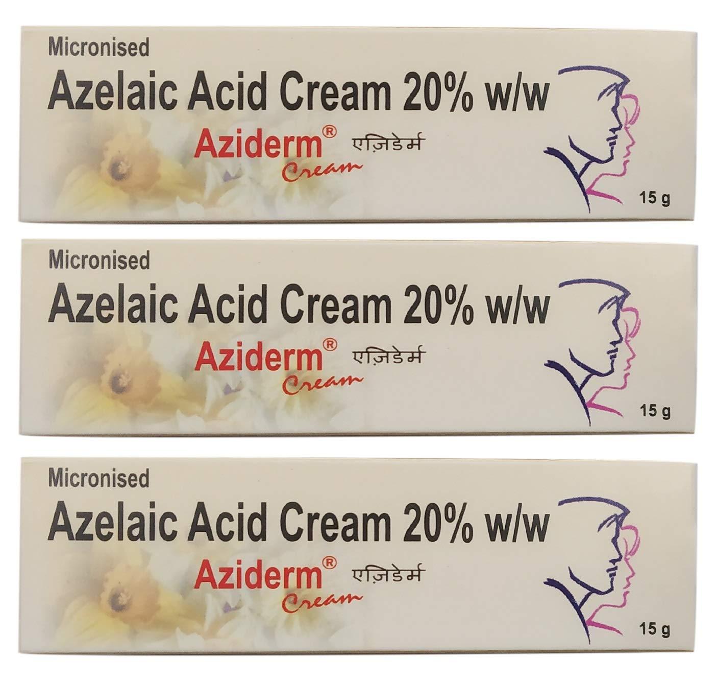 Aziderm 20% Cream (15 g) - Pack of 3