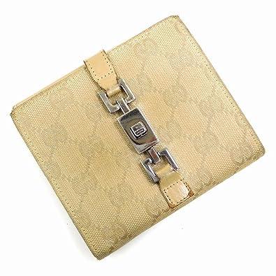 c5ff5ead83dc (グッチ) Gucci 二つ折り財布 Wホック財布 ジャッキー金具 GGキャンバス レディース 中古