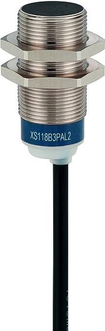 Schneider Electric XS618B1DAL2 Sensor inductivo Xs6 M18, L62Mm, Brass, Sn8Mm, 12-48Vdc, Cable 2M: Amazon.es: Industria, empresas y ciencia