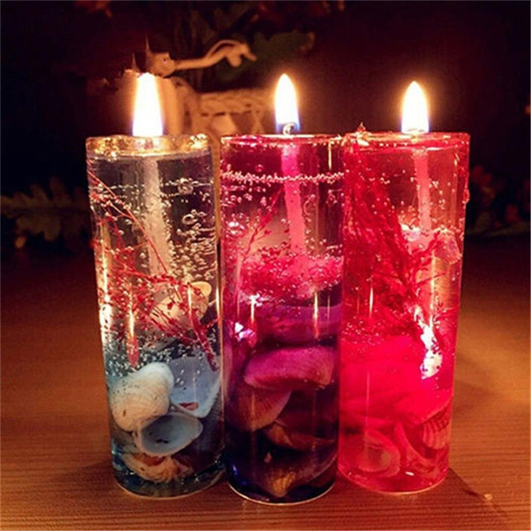 1PC Art Romantic Candle,Kemilove Aromatherapy Smokeless Candles Ocean Shells Lovers Valentines Scented Jelly Candle Wax