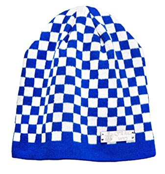 80eb25e034d Queens Park Rangers QPR FC Adult Size Beanie Check Bronx Knitted Hat (Blue)