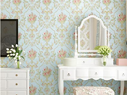 Embossed Vintage Floral Contact Paper Self Adhesive Non Woven Wallpaper For Living Room Bedroom Kitchen Bathroom