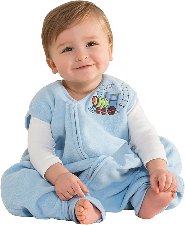 HALO Early Walker SleepSack Micro Fleece Wearable Blanket Blue Large