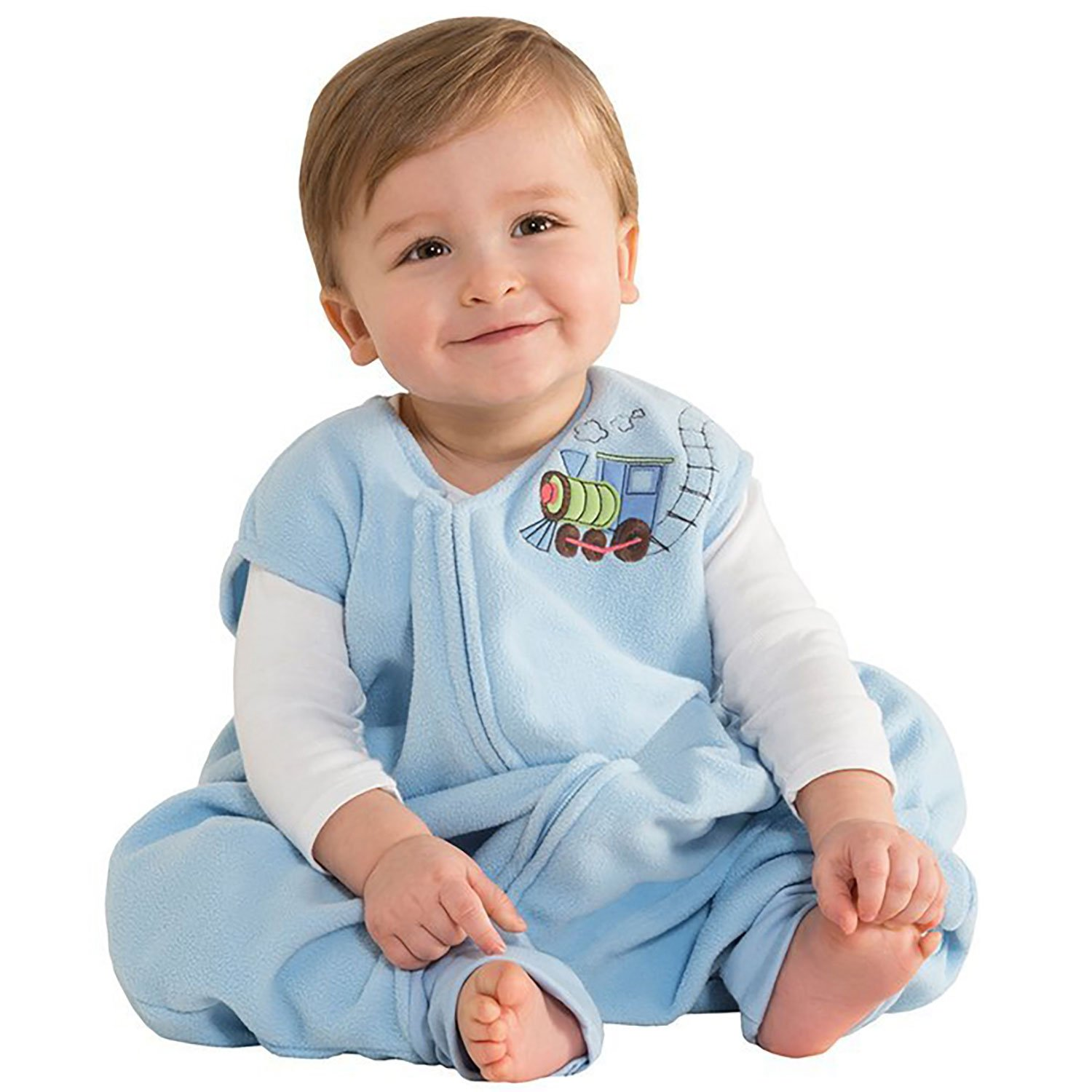 HALO Early Walker SleepSack Micro Fleece Wearable Blanket, Blue, Large by Halo
