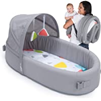 Lulyboo Bassinet To-Go Infant Travel Bed - Baby Lounge Backpack - Combines Crib, Playpen and Changing Station, Metro