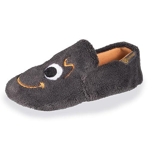 Isotoner - Zapatillas de Estar por Casa Niños, Gris (Antracita), 31/32 EU: Amazon.es: Zapatos y complementos
