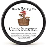 Canine Sunscreen - Zinc and Titanium Dioxide Free - All Natural and Organic Formula for Dogs