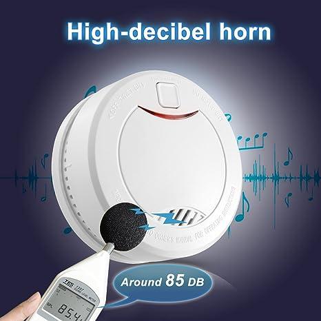 Detector de Humo con Batería Interior de 10 Años, Alarma de Humo con Sensor Fotoeléctrico y Alta Voz, Apriller.: Amazon.es: Bricolaje y herramientas