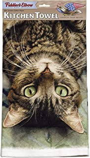 product image for Fiddler's Elbow Perculiar Perspective Cat Kitchen Cotton Dish Towel by Fiddler's Elbow