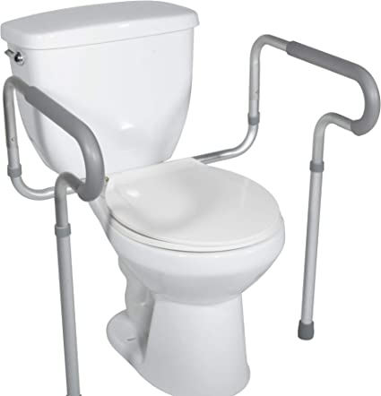 White Raised Toilet Seat with Lid 4-inches by Healthline Trading