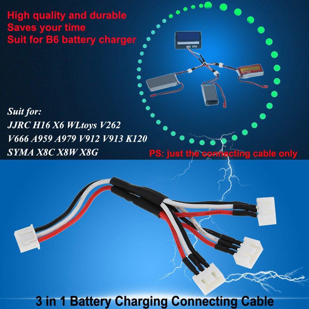 GoolRC 3 in 1 Akku Ladekabel anschluss 7.4V 2S Kabel für ... on