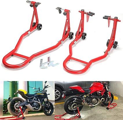 Yorking Motorrad Montageständer Für Vorne Und Hinten 2 Stück Set Motorradheber Für Hinterrad Hinterradständer Küche Haushalt