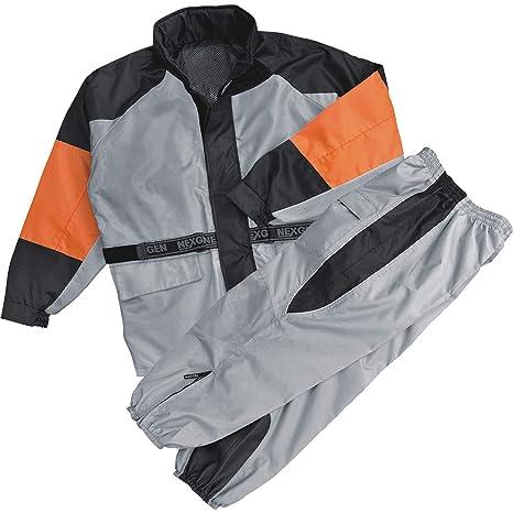 Amazon.com: Para hombre gris de moto naranja Biker ...