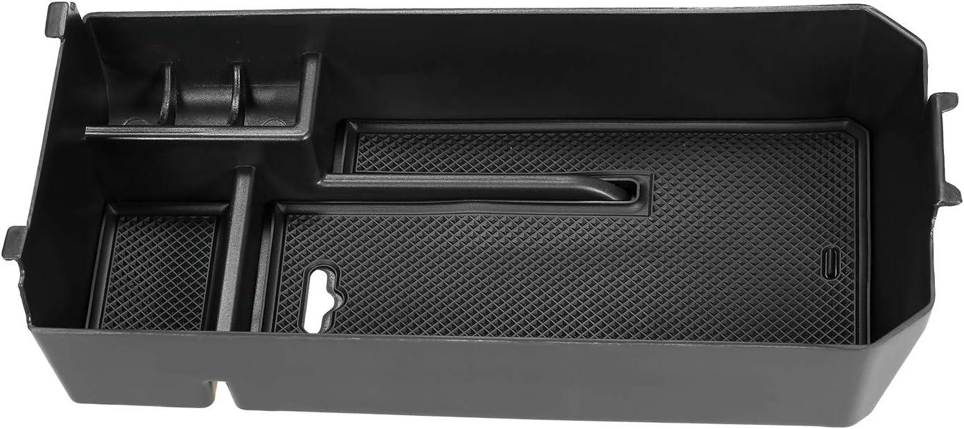 Carrfan Auto Mittelkonsole Organizer Armlehne Aufbewahrungsbox Halter Innen Organizer Fach mit Anti-Rutschmatte Kompatibel mit Mercedes Benz C Klasse 2016-2019
