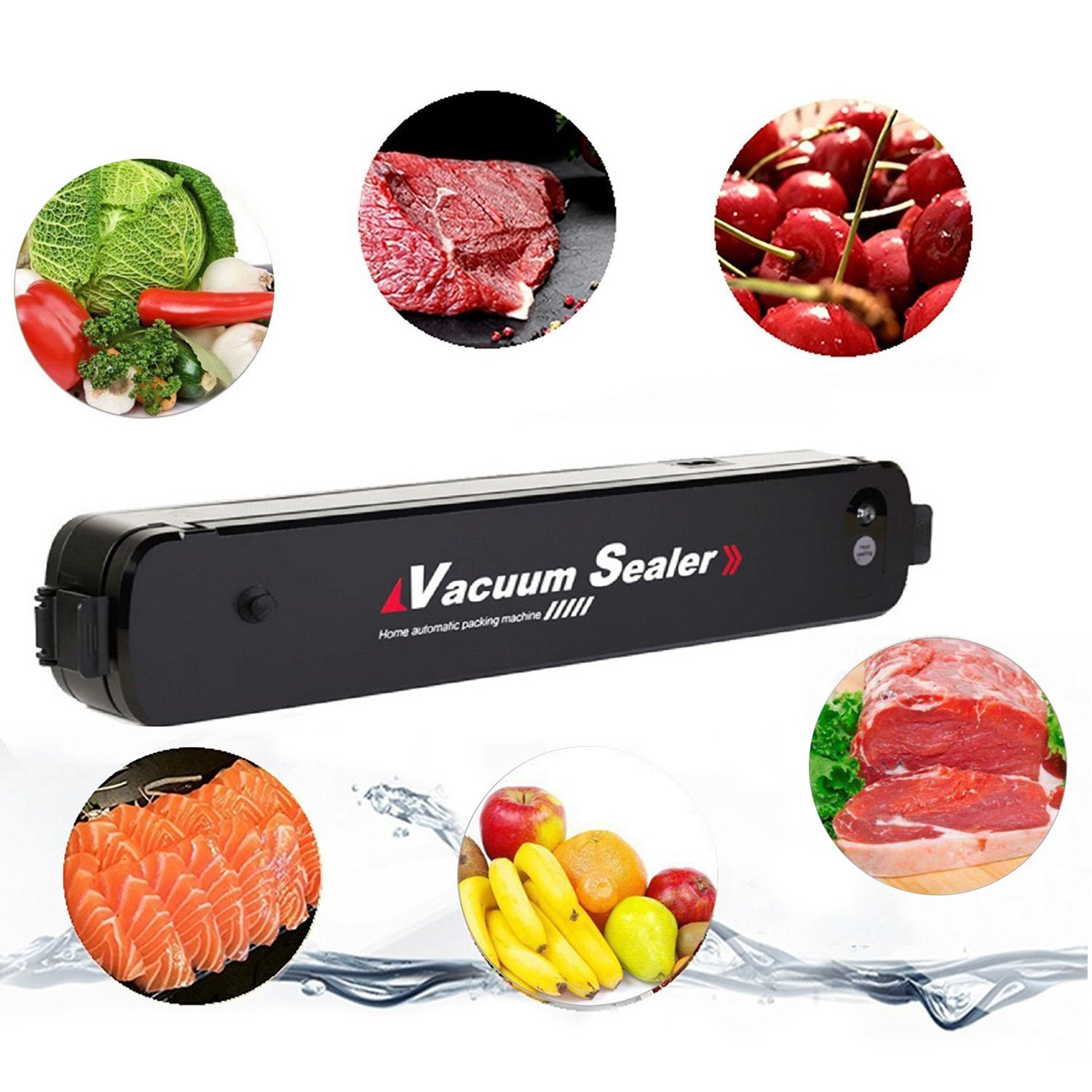 Vacuum Sealer Bamyko Portable Compact Vacuum Sealer Machine Automatic Vacuum Sealing System for Food Preservation and Storage + 15pcs Free Sealer Bags by Bamyko (Image #3)