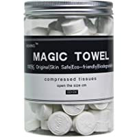 MULING Canned 100 PCS Compressed Towels Portable Mini Compressed Coin Tissue for Travel Sports, Beauty Salon or Home…