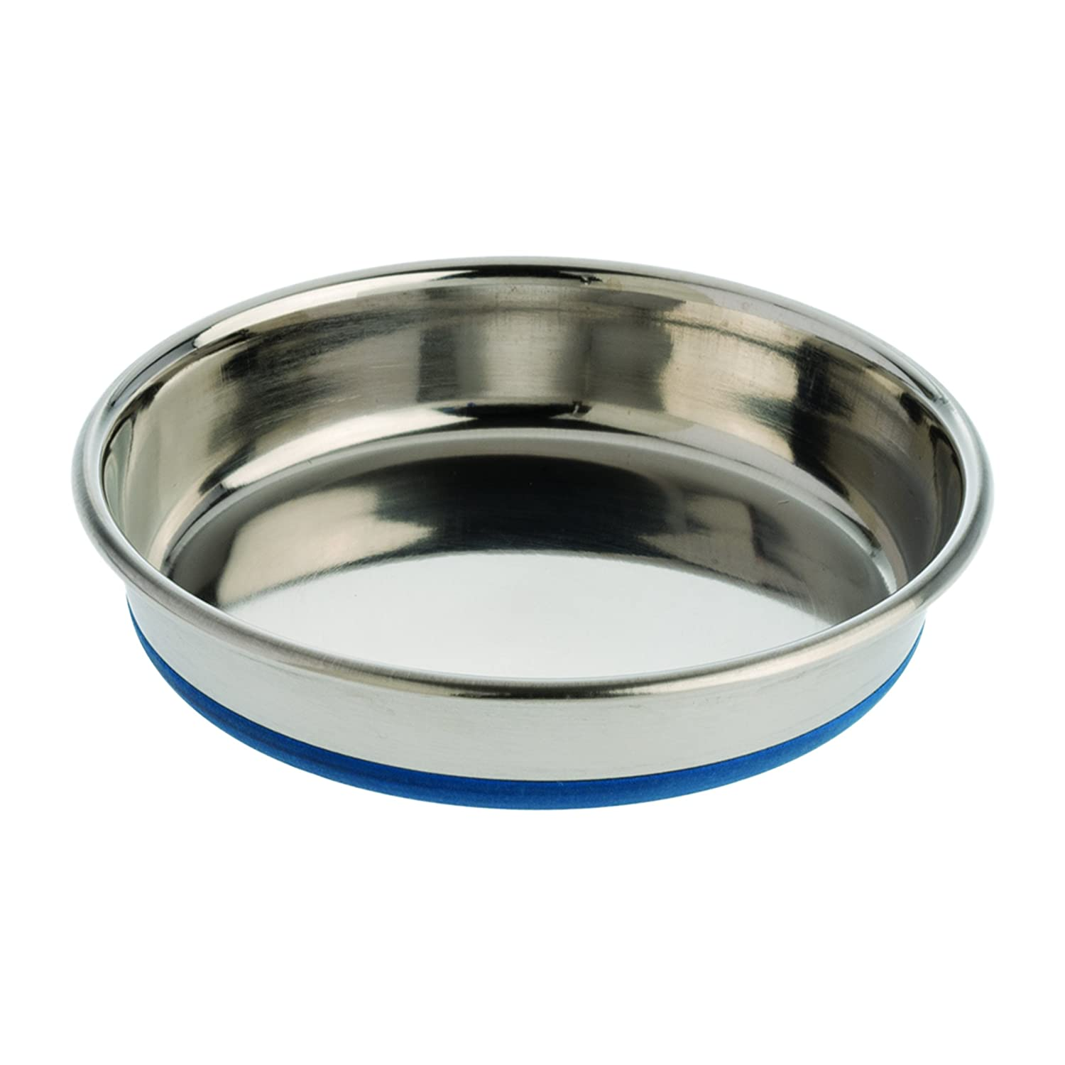 OURPQ Durapet Premium Rubber-Bonded Stainless Steel Dish