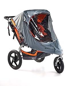 BOB Weather Shield for Duallie Swivel Wheel Strollers, Grey