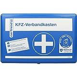 Cartrend 7700126 Trousse de secours classique avec les mesures d'urgence de premiers secours selon Malteser, DIN 13164, bleue